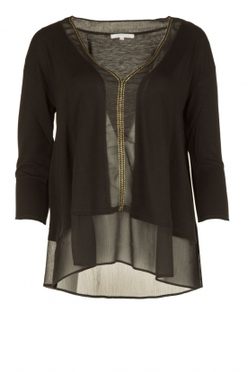 Patrizia Pepe | Blouse Mildred | zwart