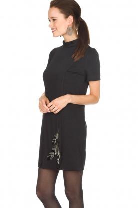 Patrizia Pepe | Metallic jurk Diamond | zwart
