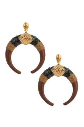 Gas Bijoux |  Wooden earrings Juan | gold
