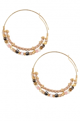 Gas Bijoux |  Plated earrings Comedia | gold