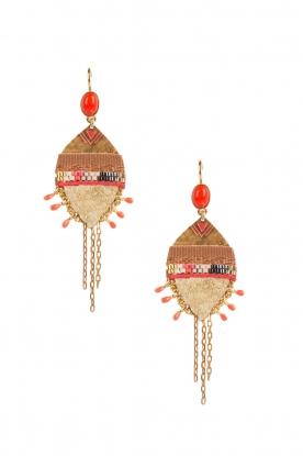 14k vergulden oorbellen Kuzco  goud