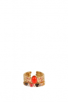 Satellite Paris | Bohemien ringen | rood