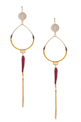 Satellite Paris |  14k gilded golden earring | purple