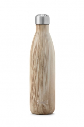 S'well Bottle | Thermofles warm/koud Blonde Wood 500 ml | bruin