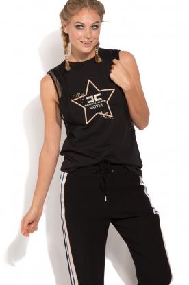 ELISABETTA FRANCHI | Luxe sporttop Star | zwart