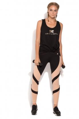 ELISABETTA FRANCHI | Luxe sportlegging Star | zwart/oudroze
