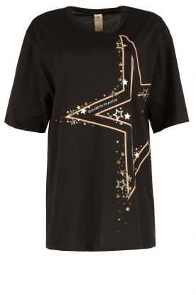 ELISABETTA FRANCHI |  Oversized sports T-shirt Zema | black