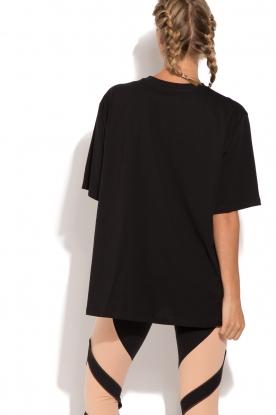 ELISABETTA FRANCHI   Oversized sport T-shirt Zema   zwart
