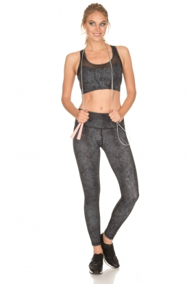 Varley | Slangenprint sportlegging Hayworth | zwart
