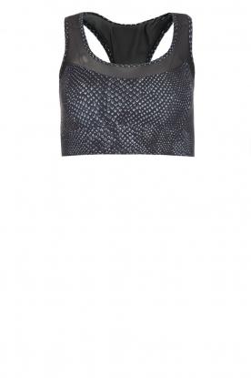 Varley |  Snake print sportsbra Bandini | black