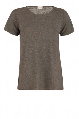 American Vintage | Ronde hals T-shirt Jacksonville | grijs