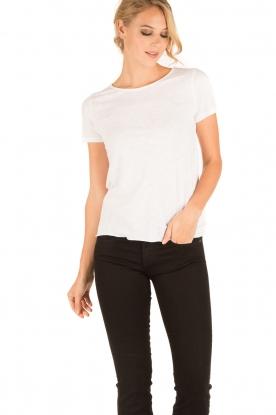 American Vintage | Ronde hals T-shirt Jacksonville | wit