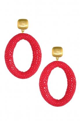 Miccy's | Oorbellen Stingray Hoops | rood
