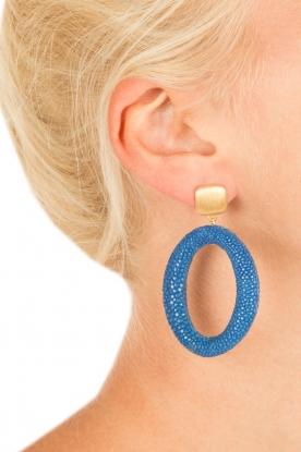 Miccy's | Oorbellen Stingray Hoops | blauw