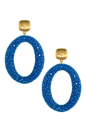 Miccy's |  Earrings Stingray Hoops | blue