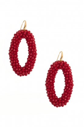 Miccy's | Oorbellen Crystal Ovals | rood
