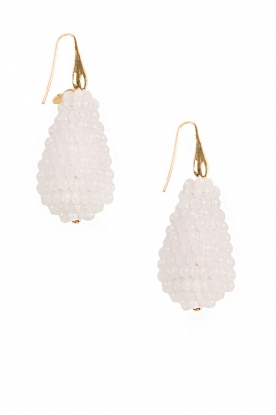 Miccy's |  Earrings Crystal Drops | white