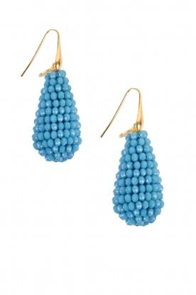 Miccy's | Oorbellen Crystal Drops | blauw