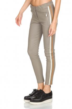 Arma | Lamsleren broek met zijstreep Lacay | grijs