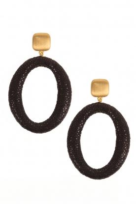 Miccy's | Oorbellen Stingray Hoops | zwart
