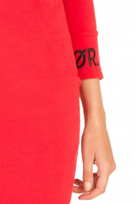 Amatør | Sweaterjurk Bash | rood
