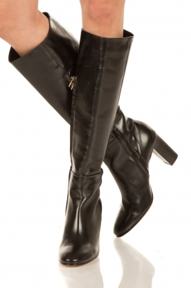 Noe |  Leather boots Nives | black