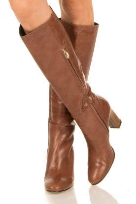 Noe |  Leather boots Nives | brown