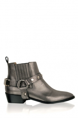 Toral |  Leather metallic ankle boots Eclat | grey