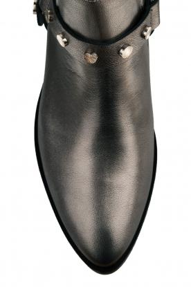 Toral | Leren metallic enkellaarzen Eclat | grijs