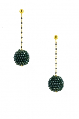 Miccy's |  Earring Crystal Ball | Green