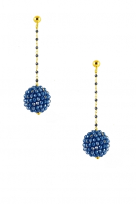 Miccy's |  Earrings Crystal Ball | Blue