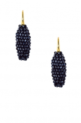 Miccy's |  Earrings crystal Oval | Blue
