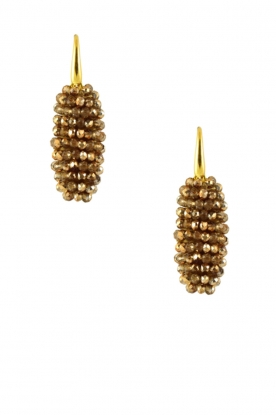 Miccy's |  Earrings crystal Oval | Gold