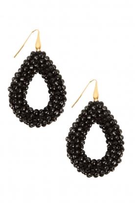 Miccy's |  Earrings open Drop | black