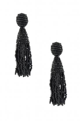 Miccy's |  Earring crystal Tassels | Black