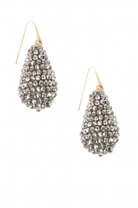 Miccy's | Oorbellen grote kristallen Druppel | Zilver