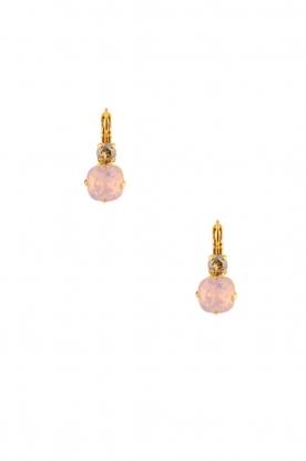 Satellite Paris | 14k vergulden oorbellen Inez | roze