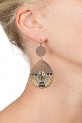 Satellite Paris | 14k vergulde golden earrings Nova | goud