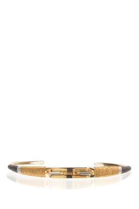 Satellite Paris |  14k gilded metal bracelet Tanarive | gold
