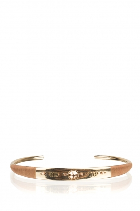 Satellite Paris | 14k vergulden armband Acacia | goud