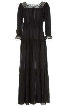 ELISABETTA FRANCHI | Maxi-jurk Gwen | zwart