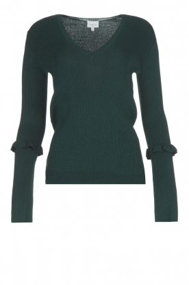 Dante 6 |  Sweater with trumpet sleeves Onyx | green
