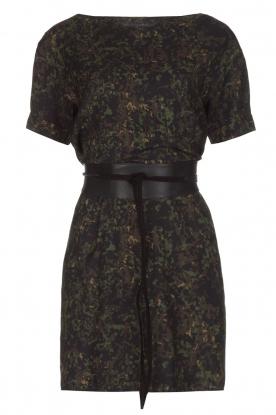 IKKS | Camouflageprint jurk met leren riem Armée | groen