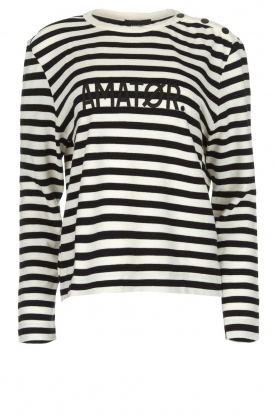 Amatør |  Striped sweater Ecuador | black & white