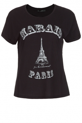 Set | T-shirt Marals Paris | zwart