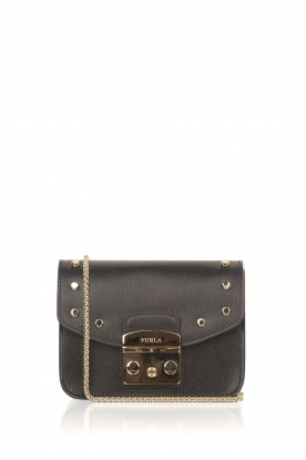Furla |  Leather bag Metropolis Mini with changeable flap Play | black