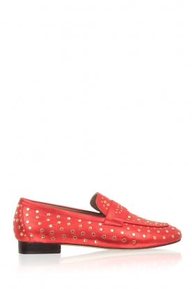 Toral | Loafer met gouden studs Videl | rood