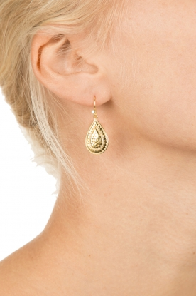 Close to Zen | 22kt vergulden oorbellen Wild Flowers | goud