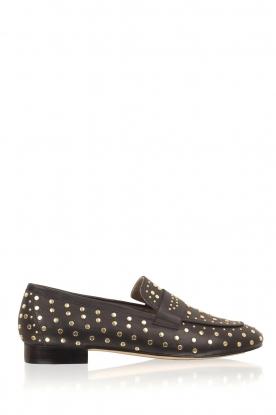 Toral | Loafer met gouden studs Videl | zwart