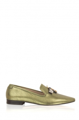 Toral | Metallic loafer Cadmio | Groen
